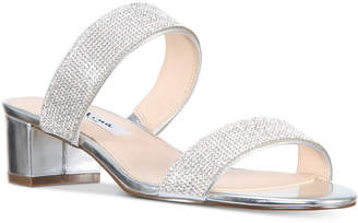 Nina Georgea Rhinestone-Encrusted Slide Sandals Women's Shoes