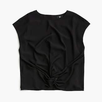 J.Crew Petite drapey front-knot top