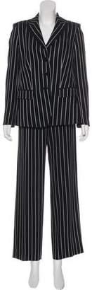Armani Collezioni Wool Striped Pantsuit