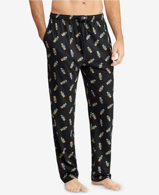 Polo Ralph Lauren Men's Allover Polo Bear Cotton Pajama Pants