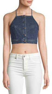 A.L.C. Trystan Denim Cropped Top
