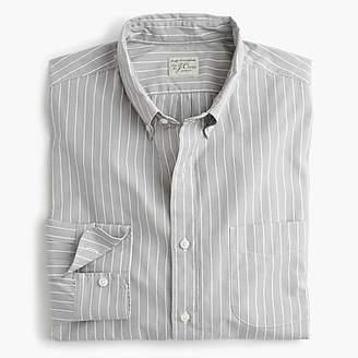 J.Crew Stretch Secret Wash shirt in grey microstripe