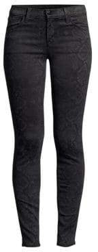 J Brand 620 Mid-Rise Python Super Skinny Jeans