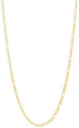 """Macy's Figaro Chain 22"""" Necklace (2-3/8mm) in 18k Gold"""
