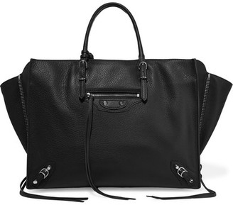 Balenciaga - Papier B4 Zip Around Textured-leather Tote - Black $1,765 thestylecure.com