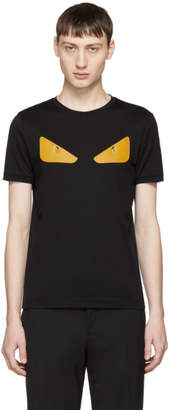 Fendi Black and Orange Bag Bugs T-Shirt