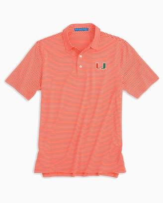 Southern Tide Miami Hurricanes Striped Polo Shirt