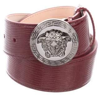 Versace Leather Medusa Belt w/ Tags