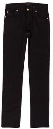 Versace Low-Rise Straight-Leg Jeans w/ Tags