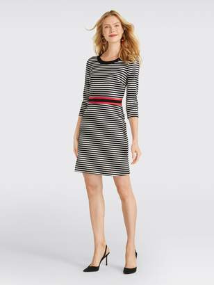 James Long Draper JamesDraper Sleeve Stripe Persley Ponte Dress