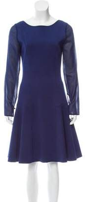 Oscar de la Renta Wool A-Line Dress