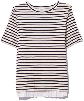 Sea Levine Stripe Tee in Cream/Navy