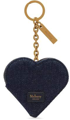 Mulberry Heart Portrait Keyring Midnight
