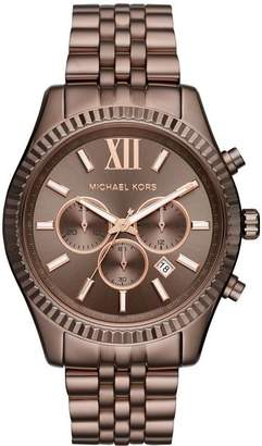Michael Kors MK8522 Men's Lexington Sable Ion Plated St Steel Chronograph Watch