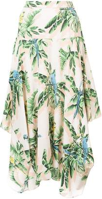 Stella McCartney asymmetric printed skirt