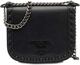 Prada Pionnière studded shoulder bag