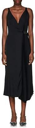 Prada Women's Crepe Belted Wrap-Front Dress - Black