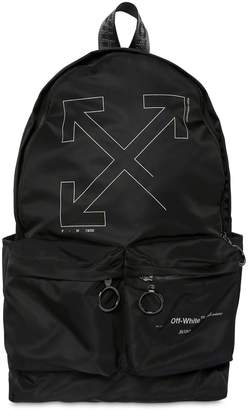 Off-White Off White Unfinished Print Nylon Backpack
