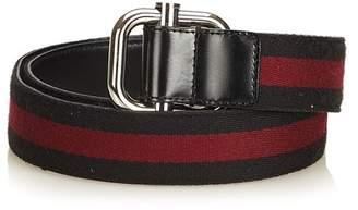 Cotton Belt Vintage Gucci Reversible Striped
