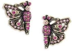 Heidi Daus Butterfly Crystal Earrings