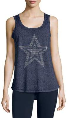 Andrew Marc Performance Graphic Stud Tank Top