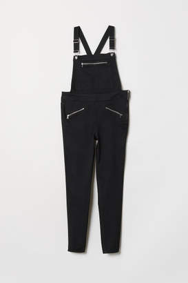H&M H&M+ Denim Bib Overalls - Black
