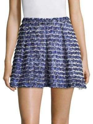 Proenza Schouler Printed Fil Coupe Short Skirt