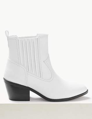 Marks and Spencer Block Heel Chelsea Western Boots