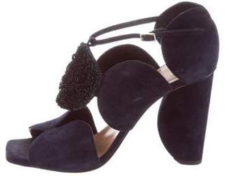 Dries Van Noten Embellished Suede Sandals