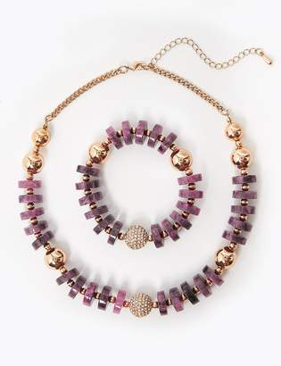 Marks and Spencer Disc and Ball Jewellery Set