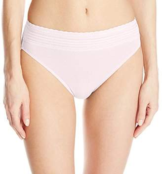Warner's Women's No Pinching No Problem Cotton Lace Hi-Cut Panty