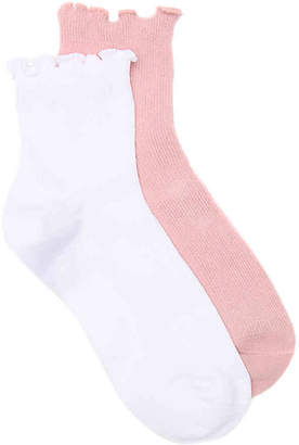 HUE Hosiery Ruffle Ankle Socks - 2 Pack - Women's