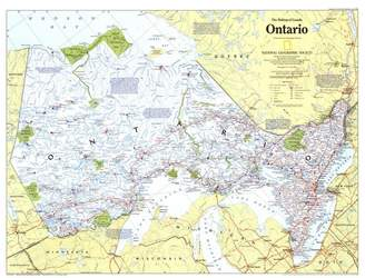 Art.com 1996 Making of Canada, Ontario Map Art Print By National Geographic Maps - 107x142 cm