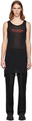 Ann Demeulemeester Black Wandering In The Dark Tank Top