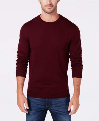 Club Room Men Textured Merino Wool Crew Neck Sweater