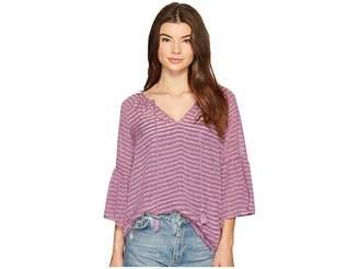 Kensie Ribbon Stripe Top KS9K4317 Women's Clothing