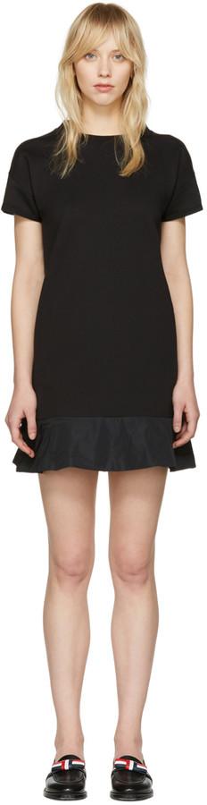 MonclerMoncler Black Peplum T-Shirt Dress
