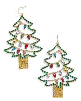 BaubleBar Christmas Tree Drop Earrings