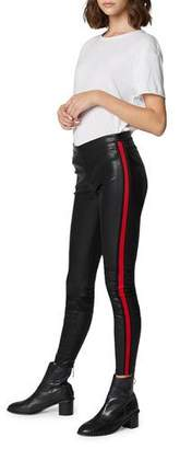 Blank NYC Vegan Leather Pull-On Leggings with Side Stripes