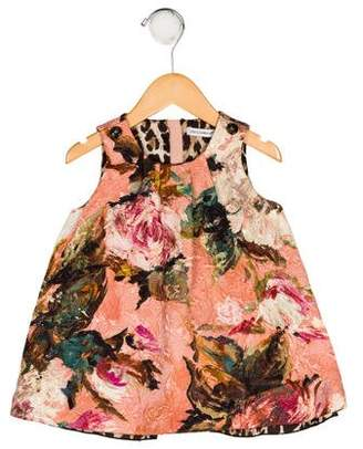 Dolce & Gabbana Girls' Floral Dress