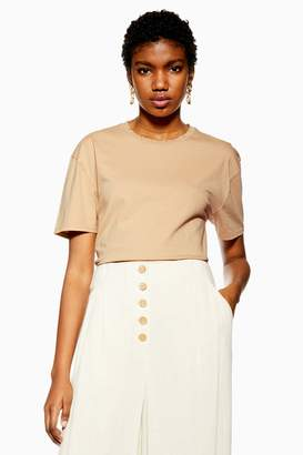 Topshop Womens Petite Stone Nibble T-Shirt - Stone