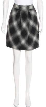 Robert Rodriguez Wool Plaid Skirt