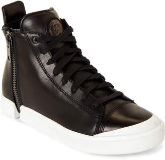 Diesel Black S-Nentish Zip-Around High-Top Sneakers