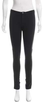 Rag & Bone Straight-Leg Leather-Accented Pants