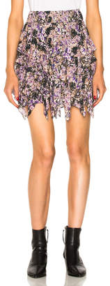 Etoile Isabel Marant Jocky Flowers Camouflage Mini Skirt