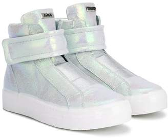 Am66 touch strap hi-top sneakers