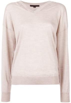 Alexander Wang slashed v-neck jumper