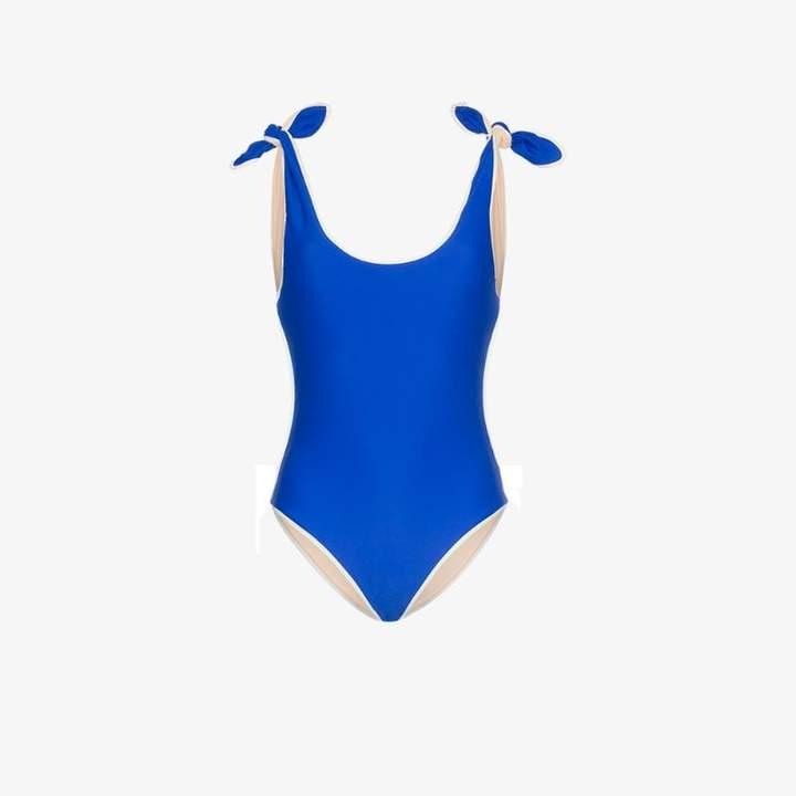 ricki baker bow shoulder swimsuit