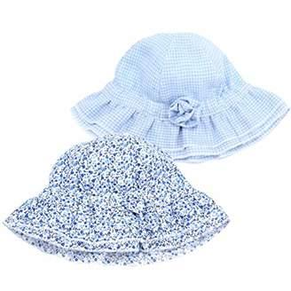 e2053a727e8 accsa Baby Girl 2 Pack Bucket Brim Color Hat Set Summer Cap Sun Block UPF
