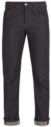 Gucci Mid Rise Straight Leg Denim Jeans - Mens - Blue